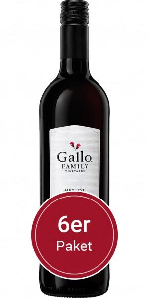6 Flaschen 0,75l Gallo Family Vineyards, Merlot, Kalifornien