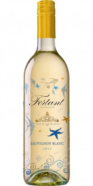 Fortant de France, Sauvignon Blanc, Vin de Pays d'Oc -in serigrafierter Flasche-