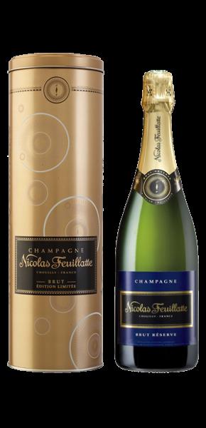 0,75-l-Fl. Champagner Nicolas Feuillatte, AC Champagne Brut Réserve in Geschenkdose