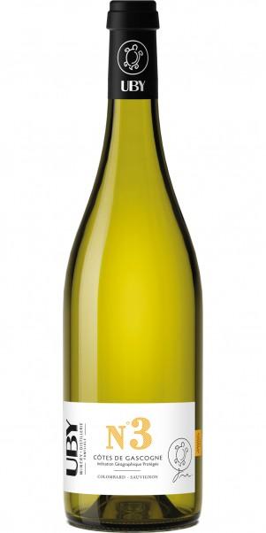 Domaine Uby, N° 3 Colombard Sauvignon Blanc, IGP Cotes de Gascogne