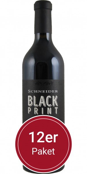 Sparpaket: 12 Flaschen Weingut Markus Schneider, Black Print QbA, Pfalz
