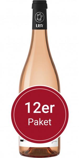 Sparpaket: 12 Flaschen Domaine Uby, N° 6 Rosé, IGP des Cotes de Gascogne