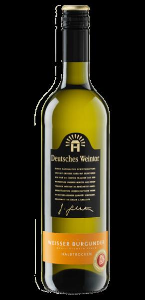 Deutsches Weintor, Weißer Burgunder halbtrocken, QbA Pfalz