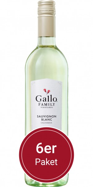 6 Flaschen 0,75l Gallo Family Vineyards, Sauvignon Blanc, Kalifornien
