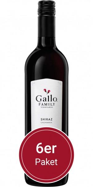 6 Flaschen 0,75l Gallo Family Vineyards, Shiraz, Kalifornien