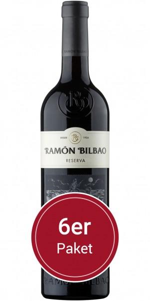 Ramón Bilbao, DOCA Reserva Rioja - 6 x 0,75 l + 6 moderne Weinkelche GRATIS