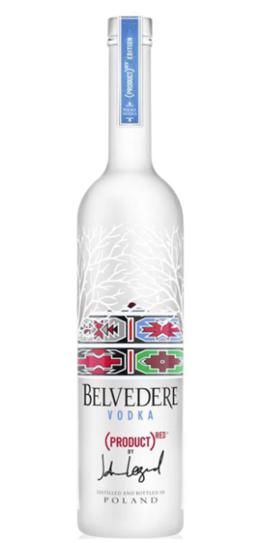 """Belvedere Vodka """"Red Edition"""" by John Legend, Original Polnischer Premium Vodka 40% -0,70 l"""