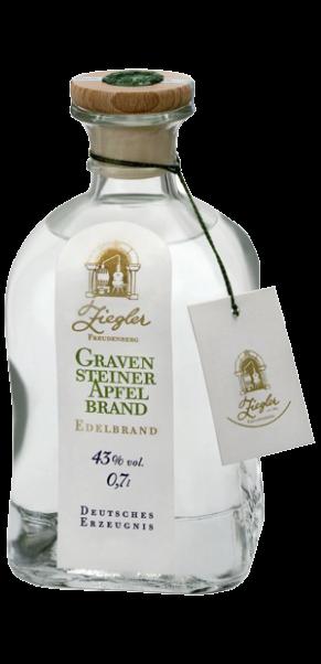 0,7-l-Fl., Brennerei Ziegler, Gravensteiner Apfelbrand 43%