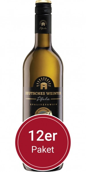 Sparpaket: 12 Flaschen Deutsches Weintor, Grau/Weißburgunder, Edition Mild, QbA Pfalz