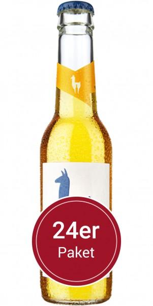 Super-Sparpaket 24 Flaschen Mari Ingwer - Join the Lama - natürlicher Weincocktail