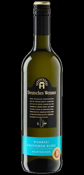 Deutsches Weintor, Rivaner Sauvignon Blanc halbtrocken, QbA Pfalz
