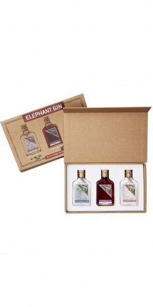 Elephant Gin, Elephant Gin Mini Tastingset 3 x 0,05 l in Tastingbox