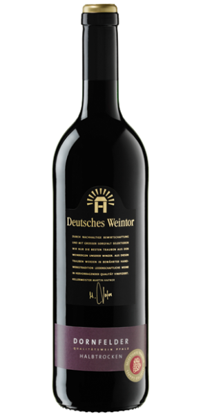Deutsches Weintor, Dornfelder halbtrocken, QbA Pfalz