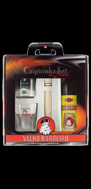 Caipirinha-Set Velho Barreiro Silver 39% - 0,7 l in Geschenkschatulle