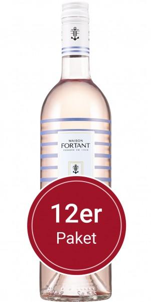 Sparpaket: 12 Flaschen Fortant de France, Maison Fortant Marinière Grenache Gris Rosé, VdP