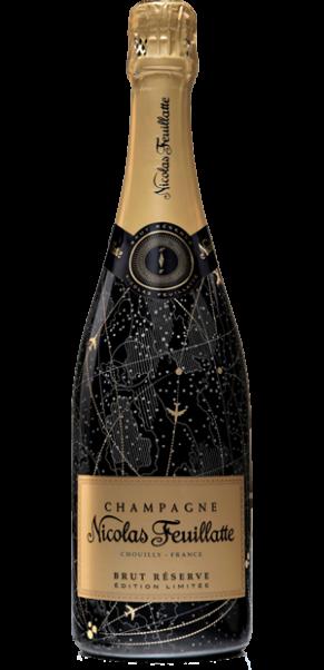 Champagner Nicolas Feuillatte, Champagne Brut Réserve Sleeve X´Ploration SCHWARZ Limited