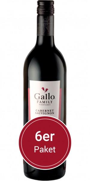6 Flaschen 0,75 l Gallo Family Vineyards, Cabernet Sauvignon, Kalifornien