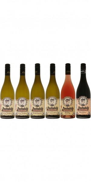 6er Probierkarton Rockabilly - Rock'n'Roll-Winzerweine + Weinkult pur