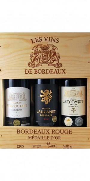 "3er Holzkiste ""Selection Grand Vin de Bordeaux 2016"""