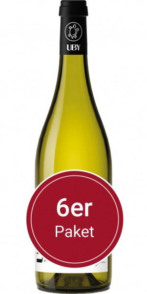 Sparpaket: 6 Flaschen Domaine Uby, N° 3 Colombard Sauvignon Blanc, IGP Cotes de Gascogne