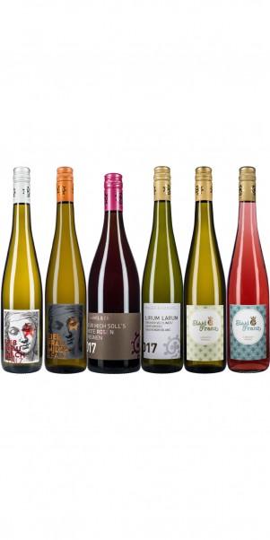 6er Probierkarton Weingut Hammel & Cie - Trinkfreude + Kult aus der Pfalz