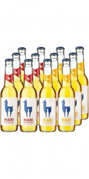 Probier-Sparpaket 6 x Mari Ingwer + 6 x Mari Holunder- Join the Lama - natürlicher Weincocktail