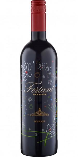 Fortant de France, Syrah Rouge, Vin de Pays d'Oc - in serigrafierter Flasche