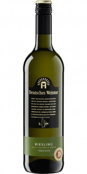 Deutsches Weintor, Riesling trocken, QbA Pfalz