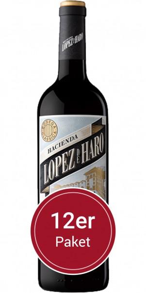 Sparpaket: 12 Flaschen Bodega Classica, Hacienda López de Haro Crianza , DOCa Rioja