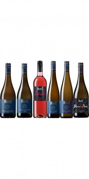 6er Probierkarton Weingut Manz - ausgesuchte Weine vom Kultwinzer