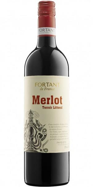 Fortant de France, Merlot, Vin de Pays d'Oc