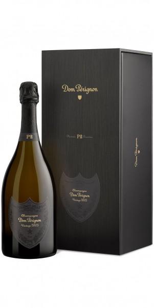 2002er Dom Pérignon Plénitude 2 in hochwertiger Holzkiste