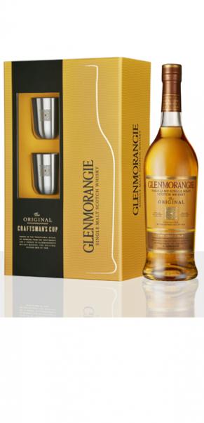 Glenmorangie Original Limited Edition 'Craftman`s Cup' 40%, Single Highland Malt + 2 Metallbecher
