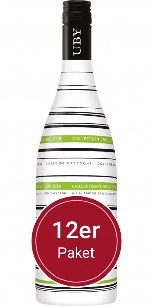 """Sparpaket: 12 Flaschen Domaine Uby, """"Collection Unique"""", Vin de Pay's des Cotes de Gascogne"""
