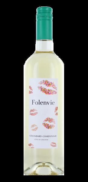 Folenvie BISOUS, Colombard Chardonnay, Vin de Pay's des Cotes de Gascogne