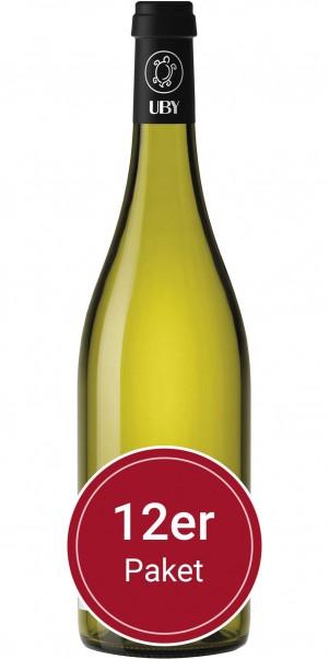 Sparpaket: 12 Flaschen Domaine Uby, N° 1 Sauvignon Blanc, IGP Cotes de Gascogne