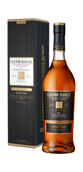 Glenmorangie Quinta Ruban - Single Malt Whisky-Port Cask Extra Matured in Geschenkschatulle