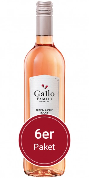 6 Flaschen 0,75 l Gallo Family Vineyards, Grenache Rose, Kalifornien