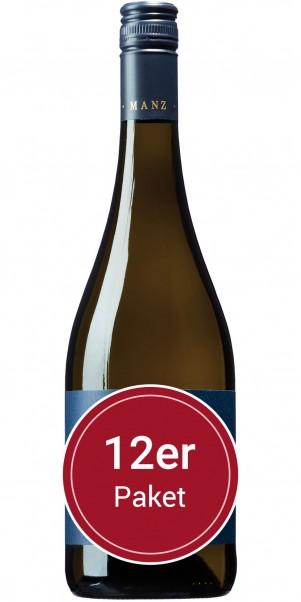 Sparpaket: 12 Flaschen Manz, Weissburgunder Löss, QbA Rheinhessen